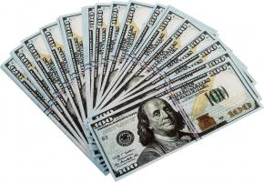 Забавная пачка сувенирных денег 100 долларов