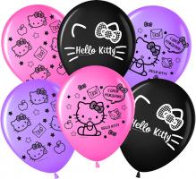 """Шар с гелием """" «С днём рождения!», Hello Kitty, пастель, 2-сторонний"""