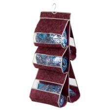 """Органайзер для хранения сумок с вешалкой двухсторонний """"Бордо"""", 5 отделений"""