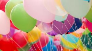 Цветные воздушные шары (100 шт в упаковке)