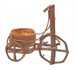 """Цветочница """"Велосипед"""" лянь, кокосовая скорлупа"""