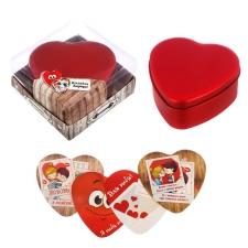 """Шкатулка с наклейками """"Я тебя люблю"""" в подарочной коробке"""