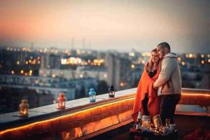 Романтическое свидание на крыше в Липецке