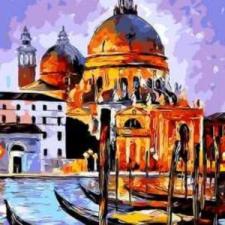 """Раскрашивание по номерам картина """"Венецианские гондолы"""""""