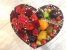 Цветы в коробках с фруктами и сладостями_5