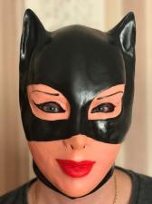 """Латексная маска """"Подруга Бетмена"""" (Женщина Кошка)"""