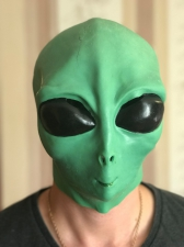 "Латексная маска ""НЛО Пришелец""_0"