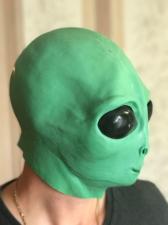 "Латексная маска ""НЛО Пришелец"""
