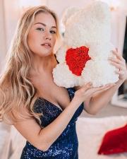 Мишка из роз с сердцем 3D в подарочной упаковке (Большой 40 см)