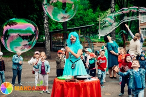 Шоу гигантских мыльных пузырей в Липецке