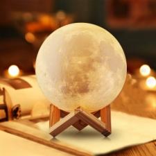 Светильник ночник 3D «Луна» 20 см и 15 см