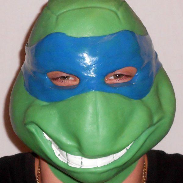 "Леонардо латексная маска ""Черепашка Ниндзя"" (синий)"