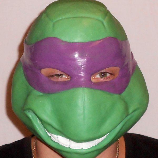 """Донателло латексная маска """"Черепашка Ниндзя"""" (фиолетовый)"""