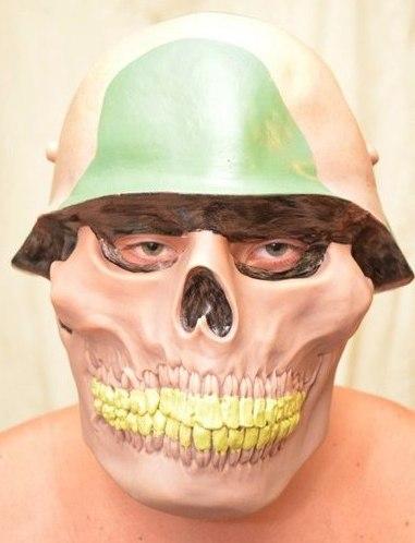 """Латексная маска """"Череп в каске"""""""