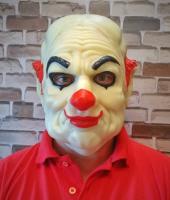 "Латексная маска ""Белый Клоун"""