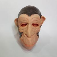 """Латексная маска """"Обезьяна коричневая"""""""