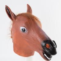 """Латексная маска """"Лошадь"""" коричневая"""