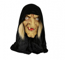 """Латексная маска """"Баба Яга в черном платке""""_0"""