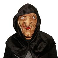 """Латексная маска """"Баба Яга в черном платке""""_1"""