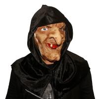 """Латексная маска """"Баба Яга в черном платке""""_2"""