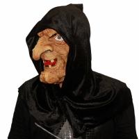 """Латексная маска """"Баба Яга в черном платке""""_3"""