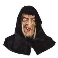 """Латексная маска """"Баба Яга в черном платке""""_4"""