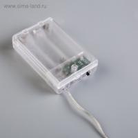 """Электрическая гирлянда светодиодная на батарейках 3*АА """"Нить"""", 3 метра тепло-белый_2"""