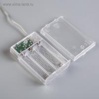 """Электрическая гирлянда светодиодная на батарейках 3*АА """"Нить"""", 3 метра тепло-белый_3"""