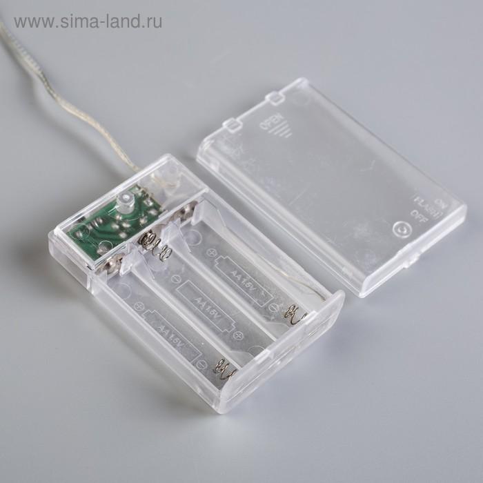"""Электрическая гирлянда светодиодная на батарейках 3*АА """"Нить"""", 3 метра тепло-белый"""